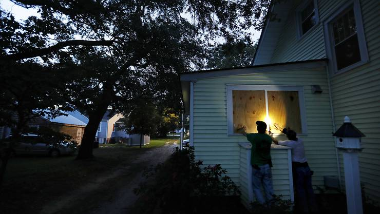 Die Bevölkerung an der US-Ostküste bereitet sich auf die Ankunft von Hurrikan Florence vor.