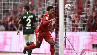 Torhungrig: Serge Gnabry zählte gegen Wolfsburg zu den Torschützen.
