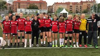 Die G15 der HSG Nordwest feiern in Göteborg einen grossen Erfolg.