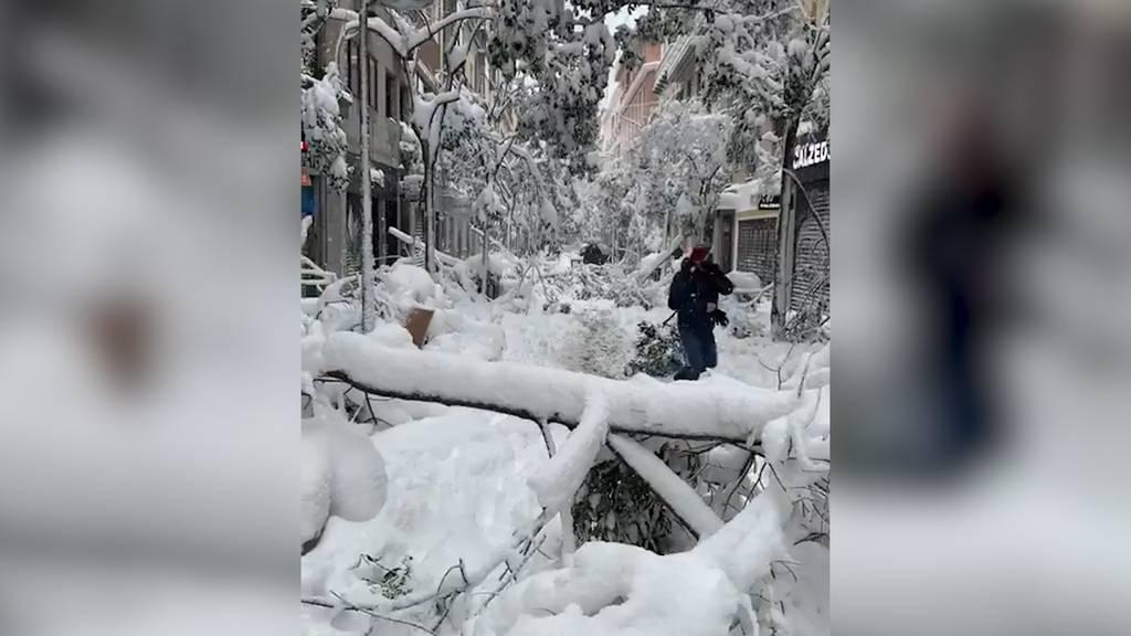 Madrid versinkt im Schnee