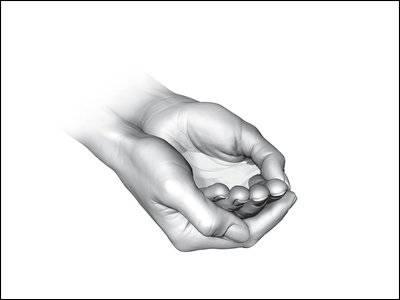 Wie auf allen Noten soll eine Hand abgebildet sein. Bild: SNB
