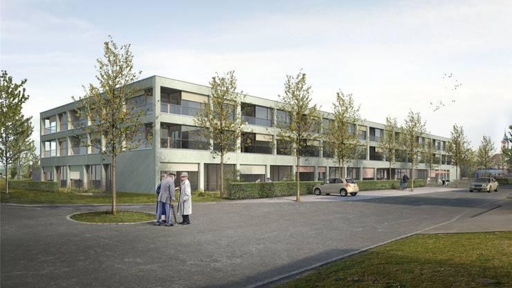 Visualisierung des nun bewilligten Seniorenzentrums Casa Hubpünt Seengen.