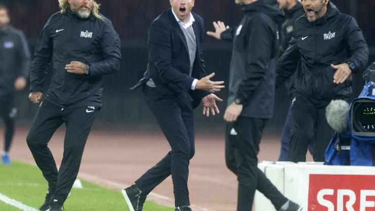 Der FC Zürich verzichtet auf einen Rekurs gegen die Sperre von Ludovic Magnin (mitte)