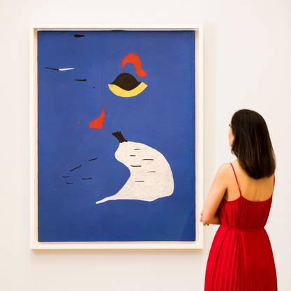 Das teuerste Bild des Abends: Joan Miró, Femme au chapeau rouge, war einem Käufer 28,7 Mio. Dollar wert.