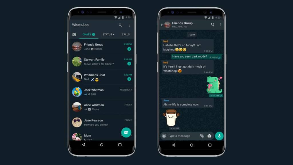 Dark Mode: Whatsapp wird Schwarz