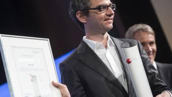 Alexander Mazzara vom TV-Sender Joiz mit dem SEF-Award