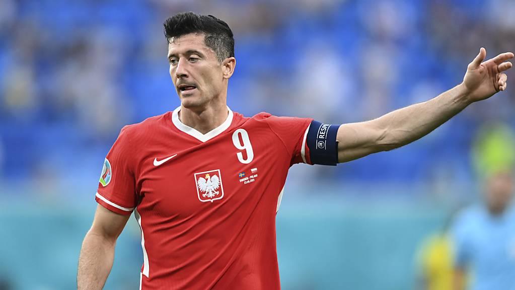 Robert Lewandowskis Tore reichten den Polen nicht.