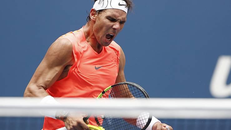 Rafael Nadal hatte auch gegen den Georgier Nikolos Basilaschwili einen Satzverlust zu beklagen
