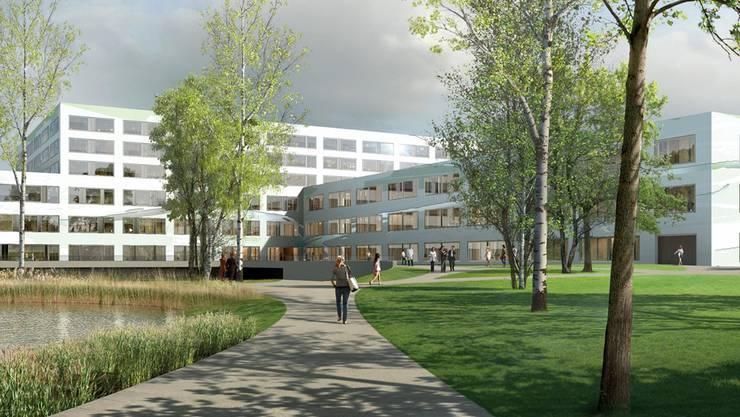 Noch nicht gebaut und schon preisgekrönt: Visualisierung des Spitals Limmattal der Firma Losinger Marazzi AG