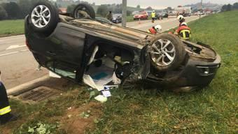 Glück im Unglück: Die Lenkerin dieses Wagens kam mit leichten Verletzungen davon.