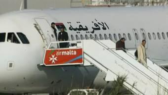Ein Afriqiyah Airways-Flugzeug wurde entführt.
