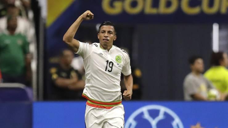 Der Mexikaner Angel Sepulveda feiert seinen Treffer