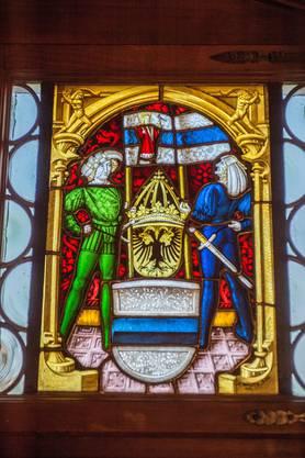 Ein restauriertes Wappenfenster