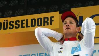Weisses statt Gelbes Trikot: der Thurgauer Stefan Küng