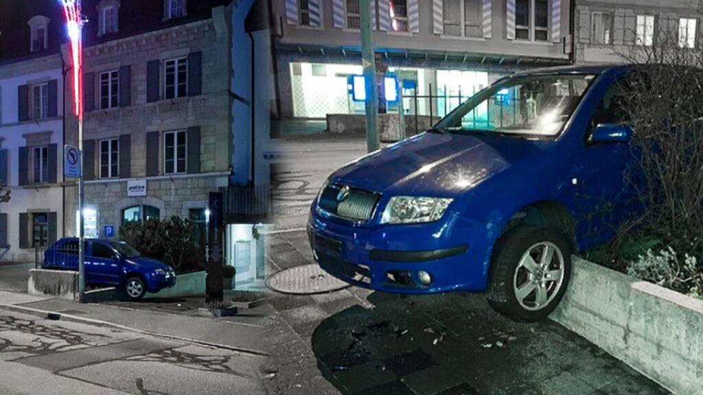 Alkoholisierter Lenker «parkiert» Auto auf Mauer