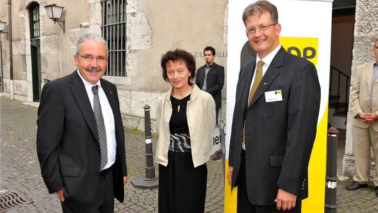 Bild aus besseren Tagen: Ernest Cavin mit Bundesrätin Eveline Widmer-Schlumpf in Solothurn. fg