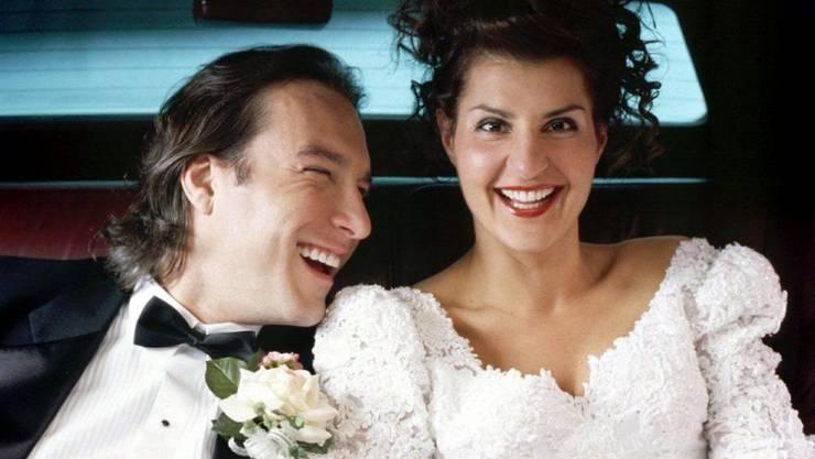 """Nia Vardalos (56) - hier im Film """"My Big Fat Greek Wedding"""", der sie 2002 berühmt gemacht hat - ist privat demnächst wieder Single."""