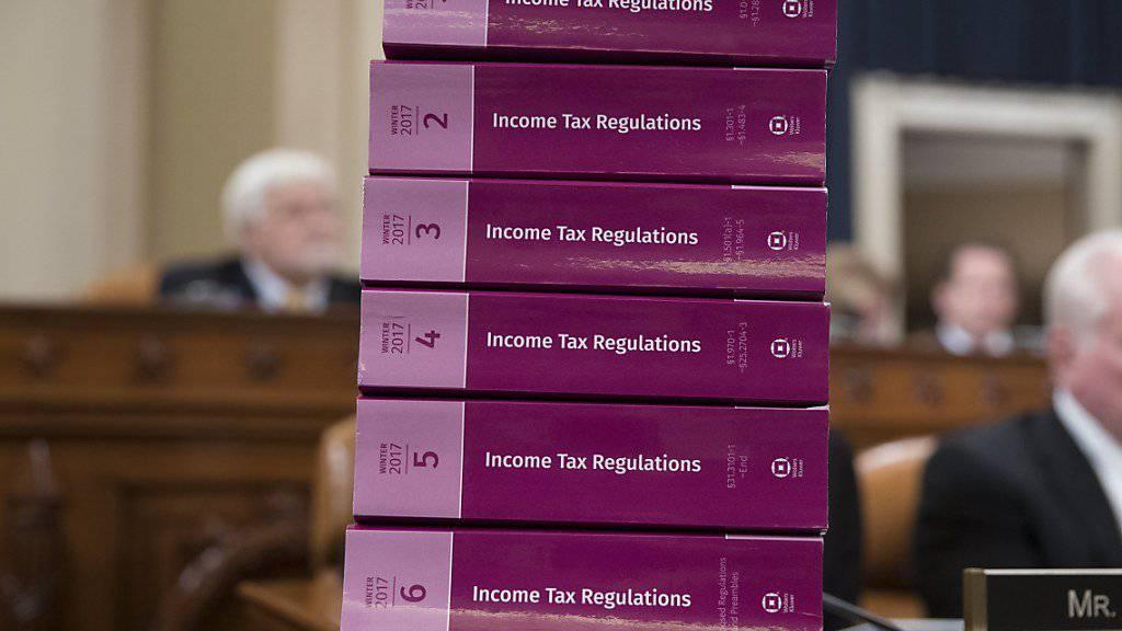 Die US-Republikaner wollen bei den Steuern erneut über die Bücher. Ob die Pläne für weitere Steuersenkungen durch den Kongress kommen, ist allerdings ungewiss. (Symbolbild)