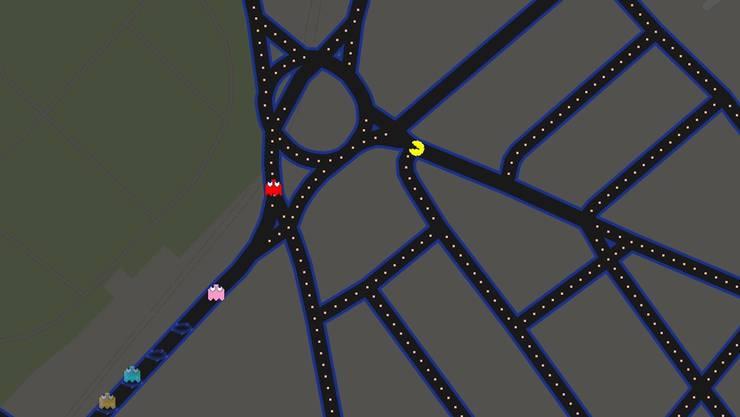 Basels Strassen werden zum Pacman-Labyrinth.