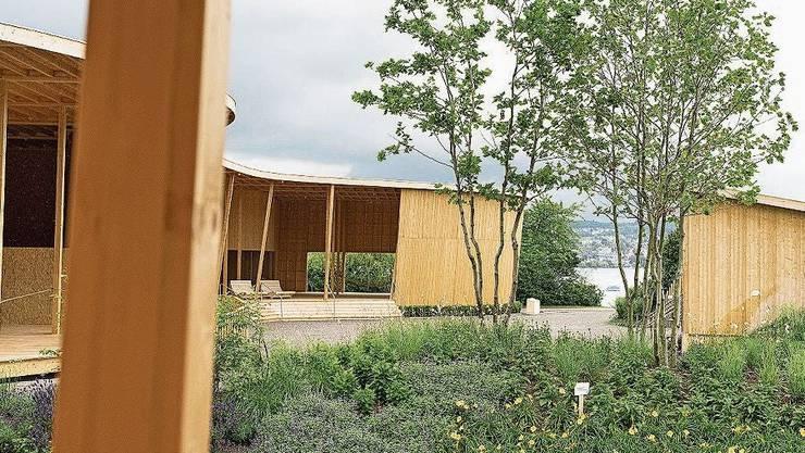 Ein Blick in den Erlebnisgarten, der im Juni eröffnet wurde.