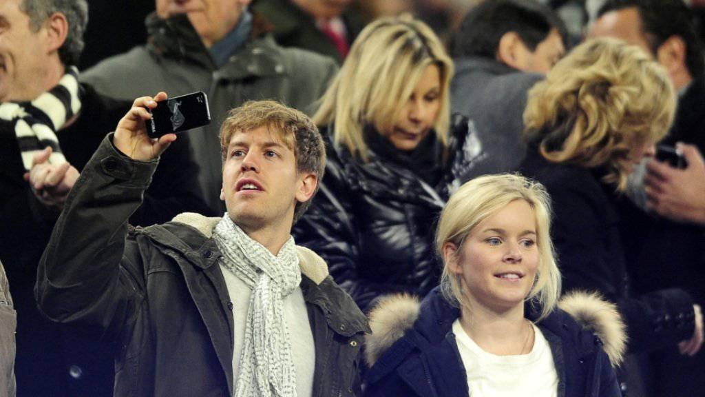 Eins der seltenen Bilder: Sebastian Vettel mit Partnerin Hanna
