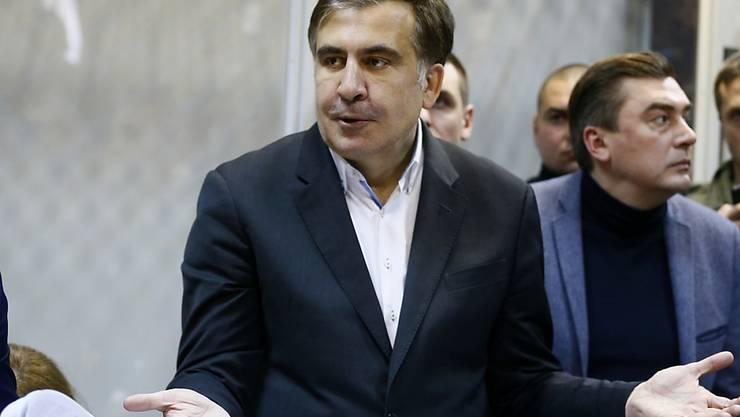 Der frühere georgische Präsident Michail Saakaschwili ist ein scharfer Kritiker seines Studienfreunds und ukrainischen Staatschefs Petro Poroschenko. (Archivbild)