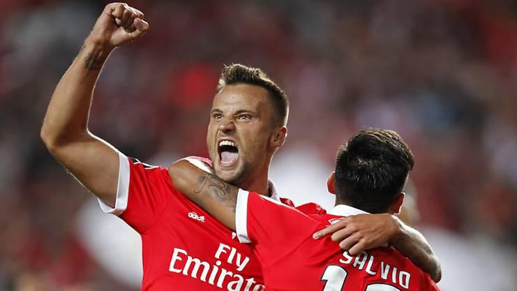 3 Pflichtspiele, 3 Tore - Haris Seferovic fühlt sich bei Benfica Lissabon pudelwohl.