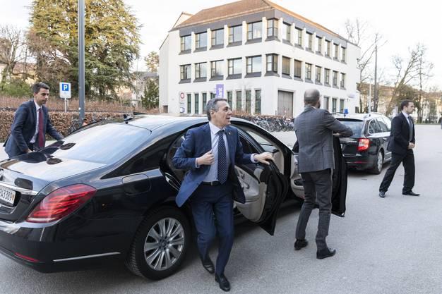 Bundesrat Ignazio Cassis bei den Aarauer Demokratietagen, am 28. März 2019 im Kultur & Kongresshaus Aarau.