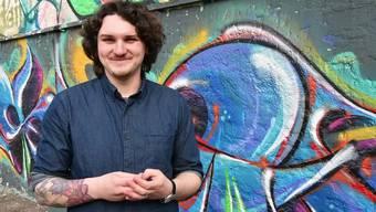 Simon Gomm ist für die Junge SP Region Olten in den Kantonsrat gewählt worden. Das freut ihn riesig,