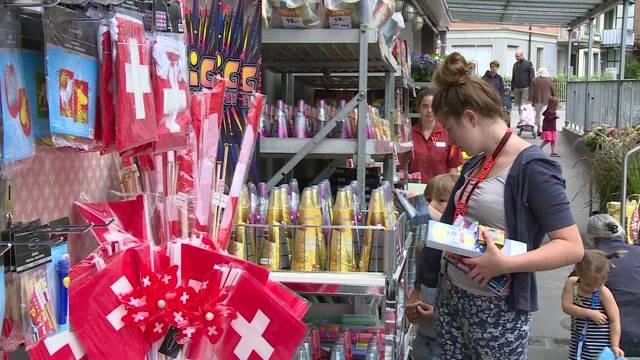 Berner Feuerwerk-Verkäufer im Schuss