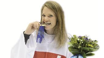 Florence Schilling mit ihrer Bronze-Medaille (Archivbild)
