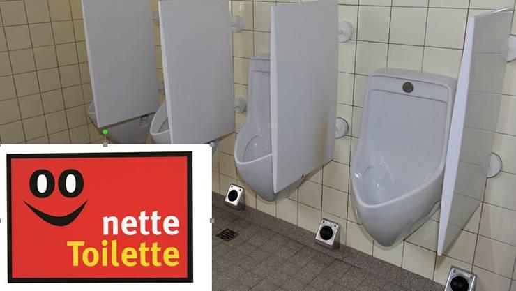 Restaurants, die ihre Toiletten zur Verfügung stellen, beschriften ihr Lokal mit dieser Plakette.
