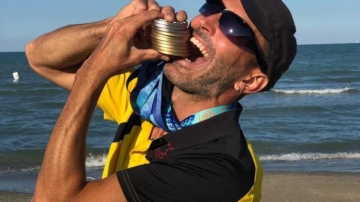 Das Masters Team der SLRG Sektion Wädenswil räumte an den Europameisterschaften ab. Die Athle-ten gewannen zusammen 27 Medaillen.