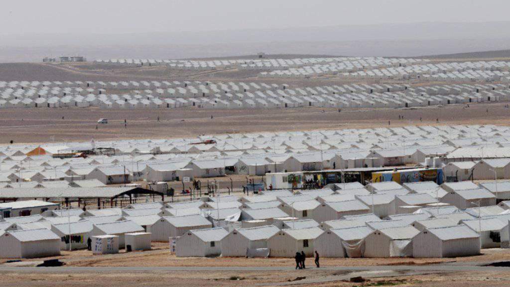 Flüchtlingslager in Jordanien: Fast 18 Millionen Syrierinnen und Syrier sind wegen des Bürgerkrieges vertrieben worden oder sind auf der Flucht.