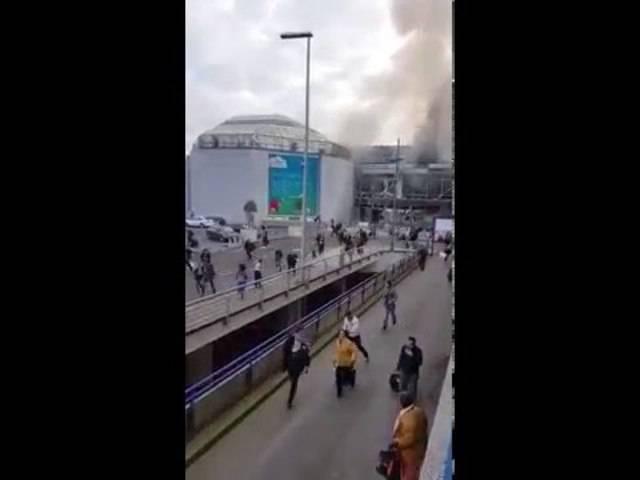 Explosionen am Brüsseler Flughafen: Menschen flüchten panisch.