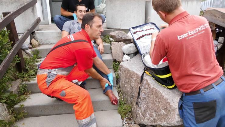 1. Hilfe bei einem Unfall