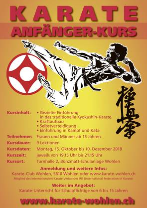 Ausschreibung Karate Anfänger-/Einsteigerkurs 2018