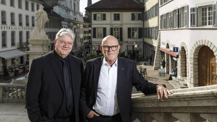 Die Classionata-Macher: Dirigent Andreas Spörri (l.) und Sponsorchef Peter Kammer.