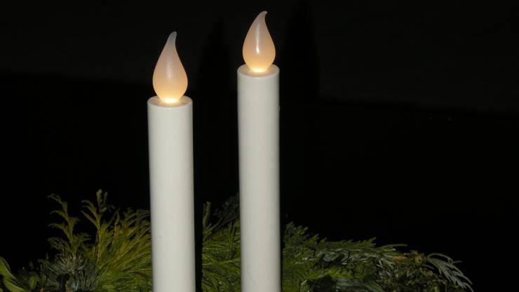 Zur Sicherheit aller brennen in vielen Altersheimen künstliche Kerzen.