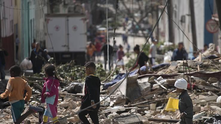 Der Tornado beschädigte in Kubas Hauptstadt Havanna ganze Strassenzüge.