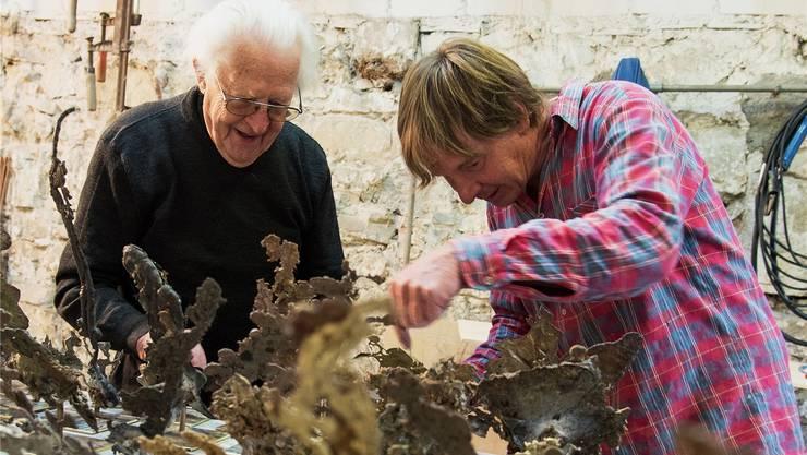 Erwin Rehmann legt die Betreuung seines Werks auch in die Hände des Betriebsleiters Daniel Waldner.  Jean-Marc Felix