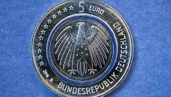 So sieht die neue Fünfliber-Euro-Münze aus