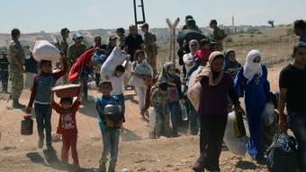 Der Krieg in Syrien vertrieb diese Menschen aus ihrem Land (Archiv)