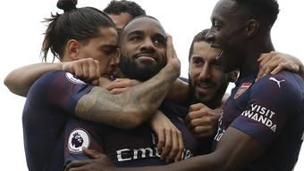 Alexandre Lacazette ebnete mit seinen beiden Toren Arsenal den Weg zum Sieg gegen Fulham