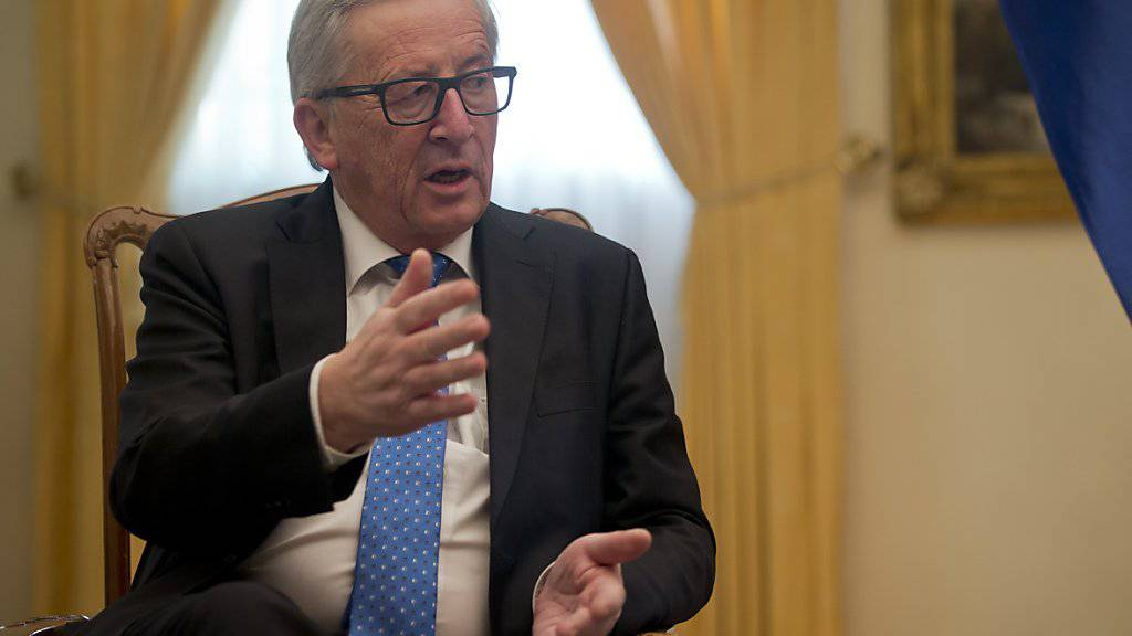 Kann die Nazivergleiche nicht akzeptieren: EU-Kommissionspräsident Jean-Claude Juncker stellt sich vor Deutschland. (Archivbild)