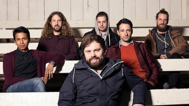 Die Oltner Band «Memory Of An Elephant» von links: Manuel Abad, Jukka Altermatt, Alain Vonesch, Julien LaGaffe, Benjamin Egli, Andreas Spring.