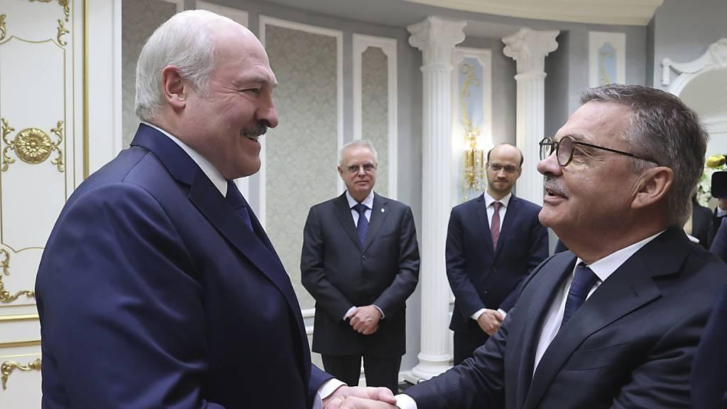 Lukaschenko wird die Eishockey-WM entzogen
