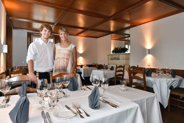 Das junge Gastgeberehepaar Adrian und Sandra Müller stammt aus dem Aargau.