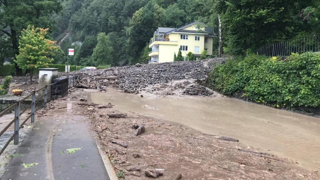 Heftiges Unwetter zieht über den Kanton Schwyz