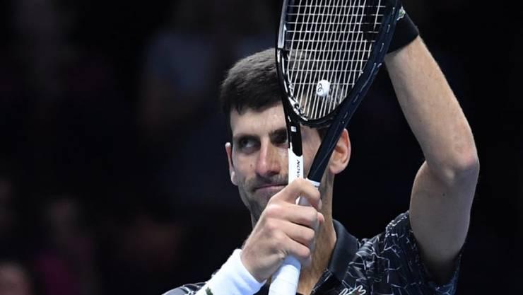 Applaus von und für den derzeit besten Spieler der Welt: Novak Djokovic in der Londoner O2 Arena